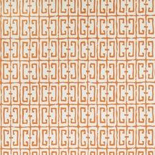 Orange Geometric Wallcovering by Stroheim Wallpaper