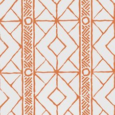 Orange Geometric Wallcovering by Stroheim Wallpaper