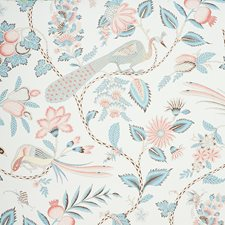 Peacock/Rouge Wallcovering by Schumacher Wallpaper