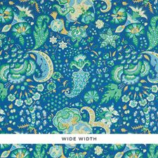 Blue Wallcovering by Schumacher Wallpaper