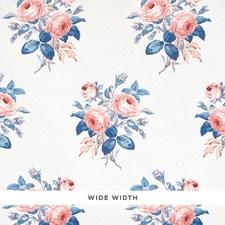 Rose/Blue Wallcovering by Schumacher Wallpaper