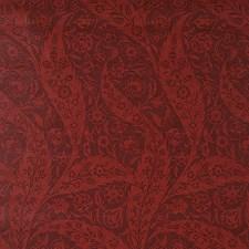 Burgundy Wallcovering by Schumacher Wallpaper