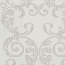 Brown/Off White Damask Wallcovering by York