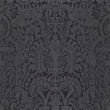 Glossy Black/Charcoal Gray Contemporary Wallcovering by York
