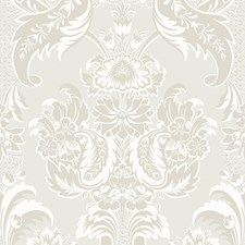 White and Pearl Wallcovering by Cole & Son Wallpaper