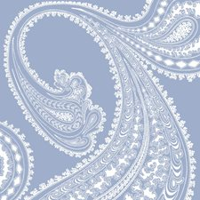 Wht/Dark Blue Paisley Wallcovering by Cole & Son Wallpaper
