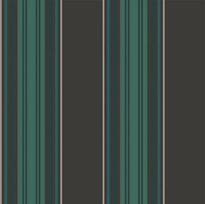 Black/Teal Stripes Wallcovering by Cole & Son Wallpaper