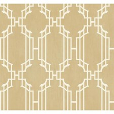 Shimmering Champagne/White Wall Decor Wallcovering by York