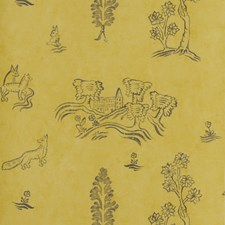 Provencal Yellow Novelty Wallcovering by Andrew Martin Wallpaper