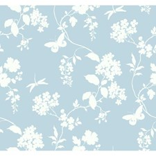 Blue/White Wall Décor Wallcovering by York