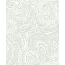 Gray/White Wall Décor Wallcovering by York