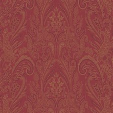 Red/Gold Paisley Wallcovering by York