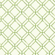 Off White/Bright Yellow Green/Medium Green Geometrics Wallcovering by York