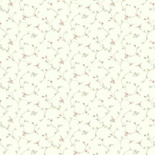 White/Aqua/Coral Floral Wallcovering by York