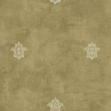 Light Gold/Metallic Gold/Cream Fleur De Lis Wallcovering by York