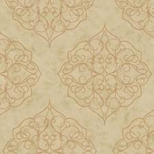 Beige/Tan/Metallic Gold Bricks Wallcovering by York