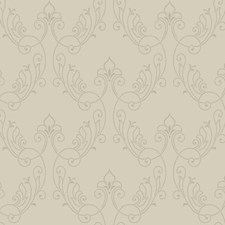 Pale Grey/Gold Glass Beads Damask Wallcovering by York