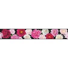 Black/Pink/White Botanical Wallcovering by York