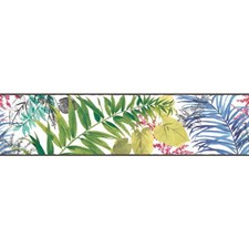 Green/Blue/Red Botanical Wallcovering by York