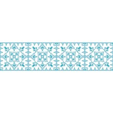 White/Teal Bohemian Wallcovering by York