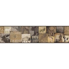 Brown/Tan/Off-white Animals Wallcovering by York