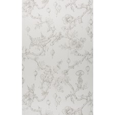 Gray Asian Wallcovering by Brunschwig & Fils