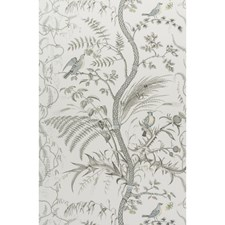 Gray Toile Wallcovering by Brunschwig & Fils