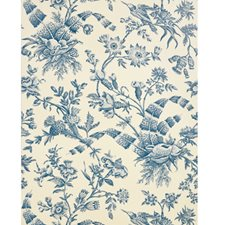 Marine Toile Wallcovering by Brunschwig & Fils