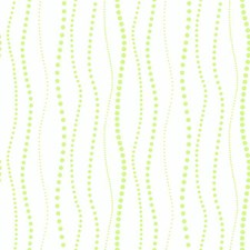 White/Shining Lime Green Dots Wallcovering by York