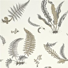 Dove Grey/Silver Botanical Wallcovering by G P & J Baker
