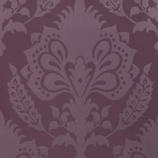 Aubergine Damask Wallcovering by G P & J Baker