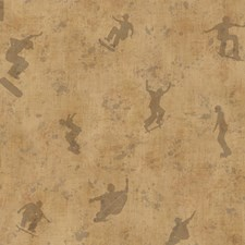 Brown Kids Wallpaper Wallcovering by Brewster