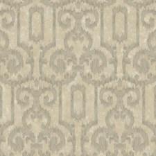 Slate/Dark Camel/Tan Metallic Ikat Wallcovering by York