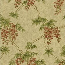 Gold Toile Wallcovering by Brewster