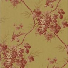 Red Toile Wallcovering by Brewster