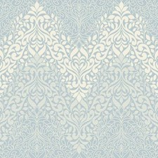 Blue/White Traditional Wallcovering by York