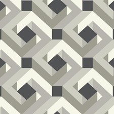 White/Black/Gray Geometrics Wallcovering by York
