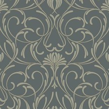 Black/Gray Traditional Wallcovering by York