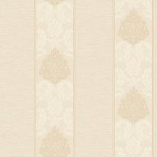 Pearlescent Cream/Cream/Ecru Damask Wallcovering by York
