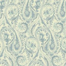 White/Medium Blue/Teal Modern Wallcovering by York