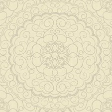 Soft Pale Gold/Cream/Silver Glitter Damask Wallcovering by York