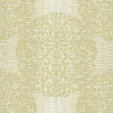 Cream/Pale Yellow/Silver Sheen Damask Wallcovering by York
