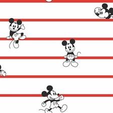 DI0933 Disney Mickey Mouse Stripe by York