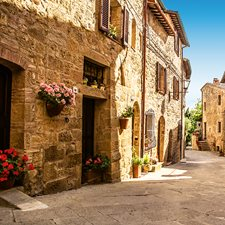 DM168 Tuscany Village Wall Mural by Brewster