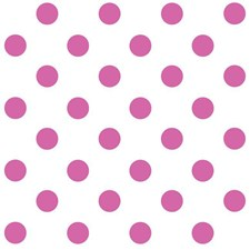 White/Bright Pink Dots Wallcovering by York