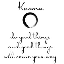 DWPQ2100 Karma Wall Quote by Brewster