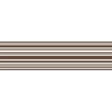 FDB07514S Chocolate Horizontal Stripe Peel & Stick Border by Brewster