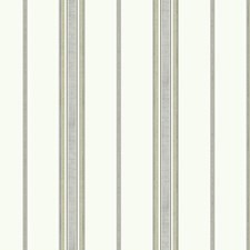 Off White/Grey/Tan Stripes Wallcovering by York