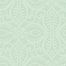 Light Aqua/White/Cream Geometrics Wallcovering by York