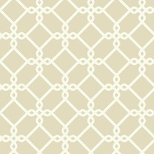 Beige/White Geometrics Wallcovering by York